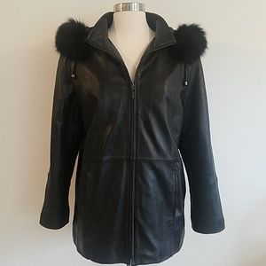 Gallery leather coat